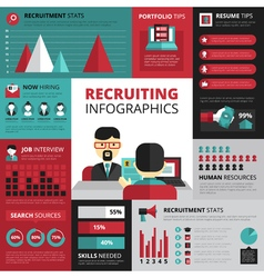 Job Search Strategy Flat Infographic Banner vector image