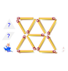 Logic puzzle game how many triangles and vector