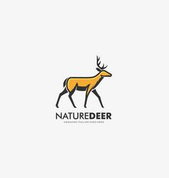 logo nature deer mascot cartoon vector image