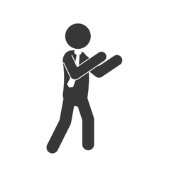 man male pictogram suit person icon vector image