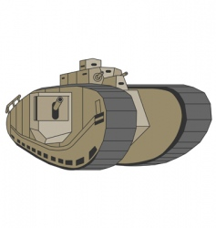 mark viii Anglo-American tank vector image