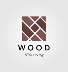 Minimalist wood parquet flooring vinyl hardwood vector