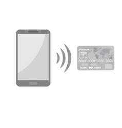 Mobile payments background vector