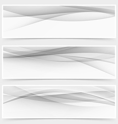 Modern grey halftone abstract header collection vector image