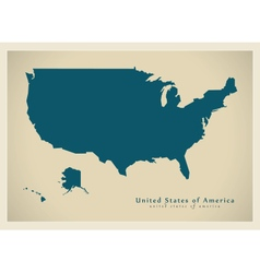 Modern Map USA vector image