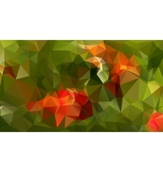 Modern Poligonal Design in Red and Green Color vector image