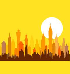 Morning modern skyline - vector