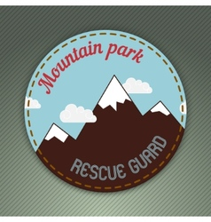 mountain themed outdoors emblem vector image