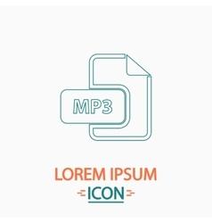 MP3 computer symbol vector