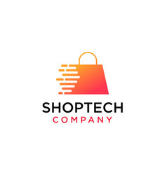 online shop store market logo vector image
