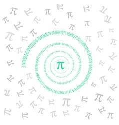Pi swirl vector