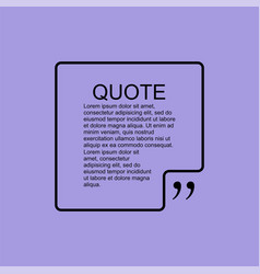 quote blank template design element similar to vector image