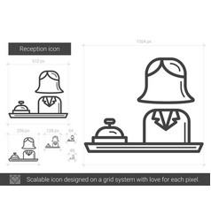 reception line icon vector image