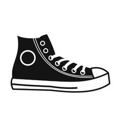 Retro sneaker simple icon vector