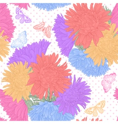 seamless background with bouquet flowers vector image