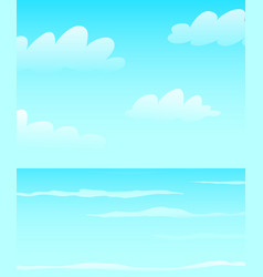 seascape oceanic blues nautical empty clean vector image