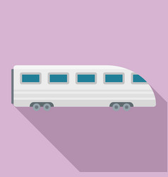 speed train icon flat style vector image