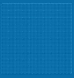 square blueprint background texture with grid vector image