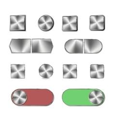 Steel button vector