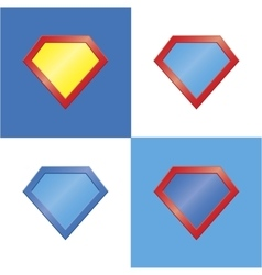 Superhero logo template blank super hero badge set vector