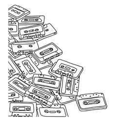 tape cassette with blank space vector image