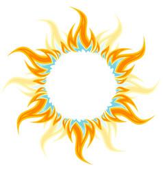 The fiery sun vector