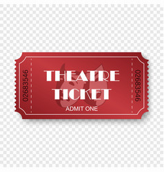 theatre ticket vector image
