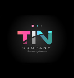 tin t i n three letter logo icon design vector image