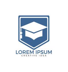 Graduation cap logo education logo vector