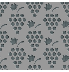 Seamless Grapes Pattern vector image