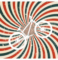 Abstract hypnotic retro background with bike vector image vector image