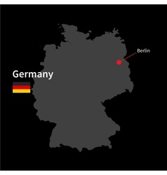 Detailed map of Germany and capital city Berlin vector image