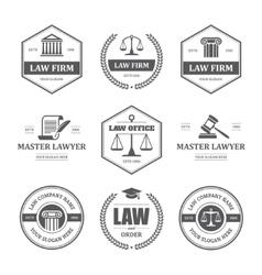Law labels set vector image