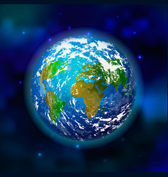 planet earth on space background vector image
