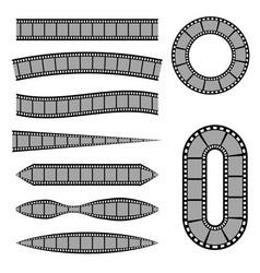 set of retro film stripes isolated vector image