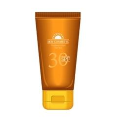Sun Cosmetics Professional Series Suntan Cream vector image vector image