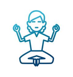 woman doing yoga vector image