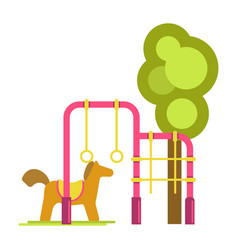 Children playground with horizontal bars vector