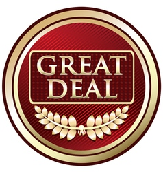 Great Deal Red Label vector image vector image