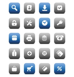 Matte buttons for internet vector image vector image