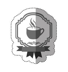 sticker gray scale border heraldic decorative vector image vector image