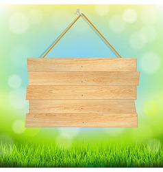 Summer banner with grass vector