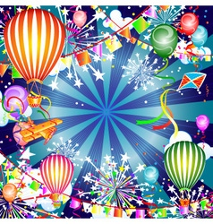 Festive background with balloons vector image vector image
