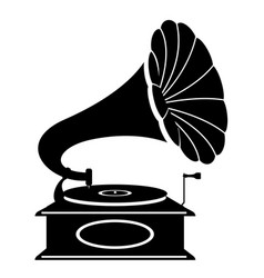 gramophone old retro vintage icon stock vector image