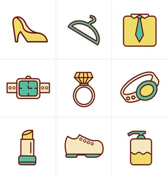 Icons Style Fashion Icons Set Design vector image