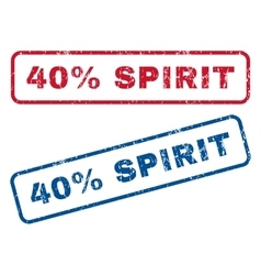 40 Percent Spirit Rubber Stamps vector image