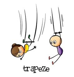 A trapeze show vector