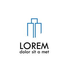 Abstract line building logo vector