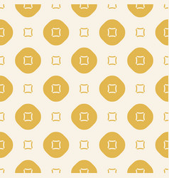 Abstract yellow geometric seamless pattern vector