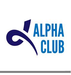 alpha letter symbol vector image